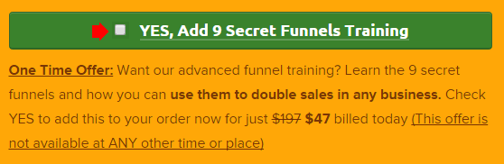 click funnels upsell